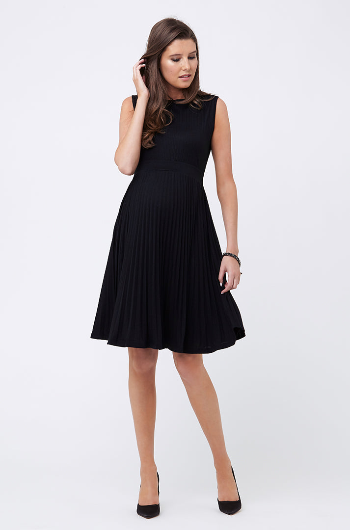 Knife Pleat Dress - Nursing & Maternity Clothes