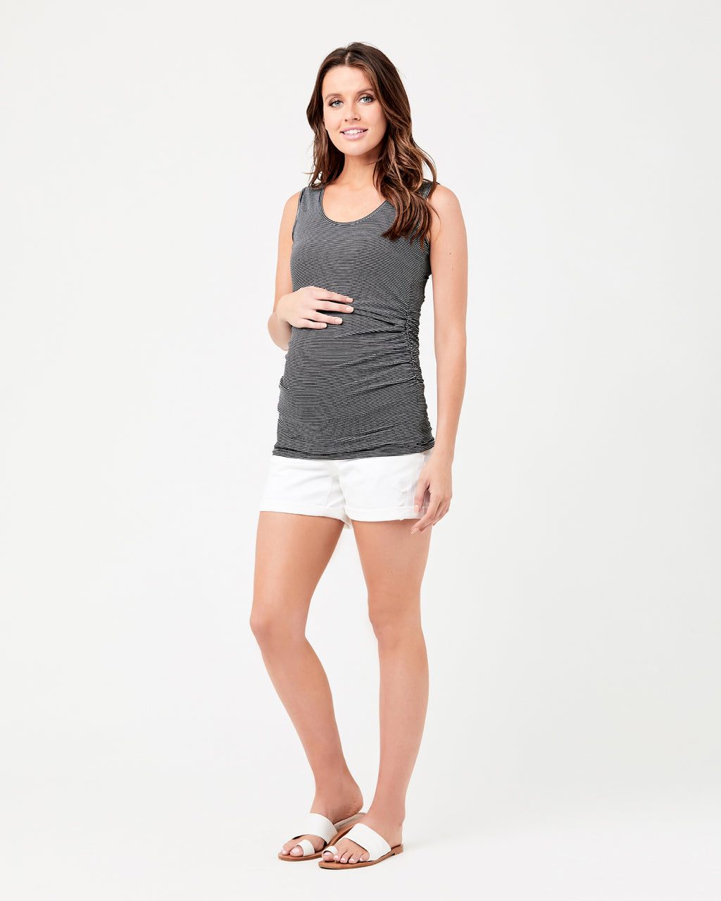 Mini Stripe Nursing Tube Tank