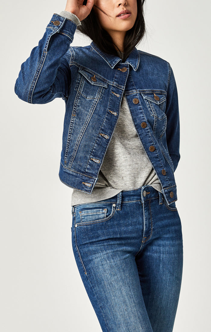 Samantha Denim Jacket - Nursing & Maternity Clothes