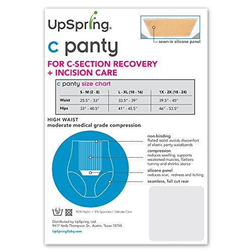 UpSpring Baby C-Panty High Waist C-Section Recovery Panty 2PACK - Nursing & Maternity Clothes