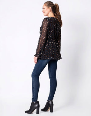 Chiffon Dot Top - Nursing & Maternity Clothes