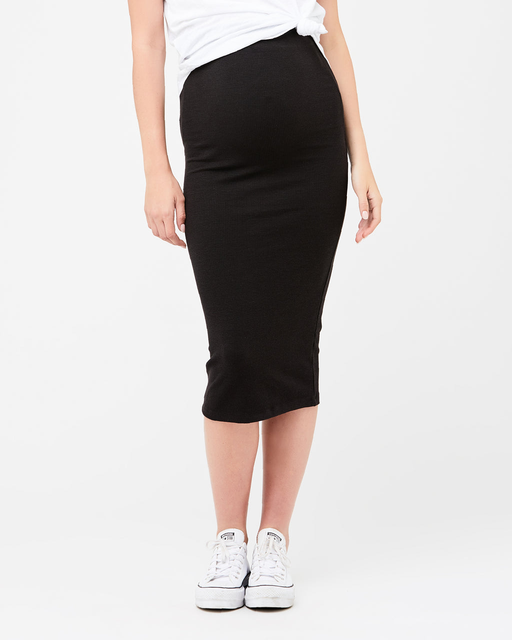 Ribbed Knit Pencil Skirt - Nursing & Maternity Clothes