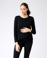 Zippered Maternity & Nursing Tee