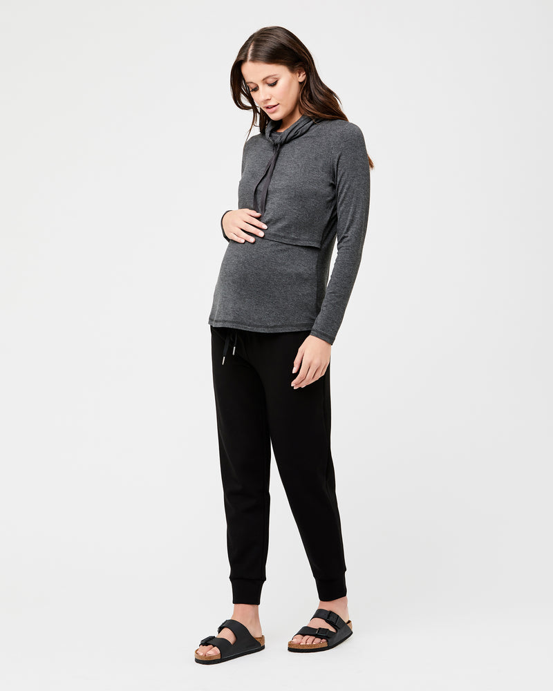 Terry Cowl Neck Top - Nursing & Maternity Clothes