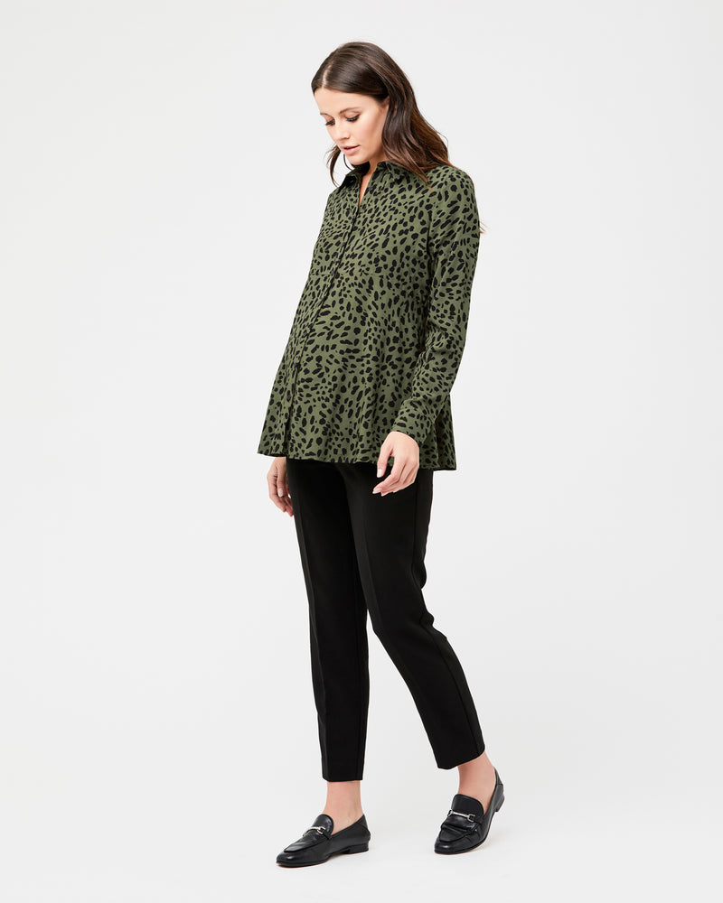 Savannah Peplum Shirt - Nursing & Maternity Clothes