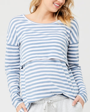 Lionel Stripe LS Tee - Nursing & Maternity Clothes