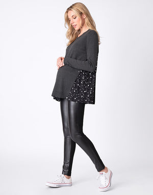 Faux Leatherette Legging - Nursing & Maternity Clothes