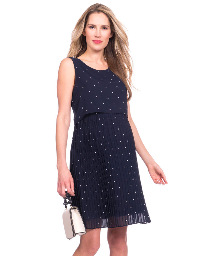 Two Layer Pleated Dress - Nursing & Maternity Clothes