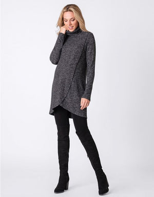 Crossover Cowl Neck Tunic - Nursing & Maternity Clothes