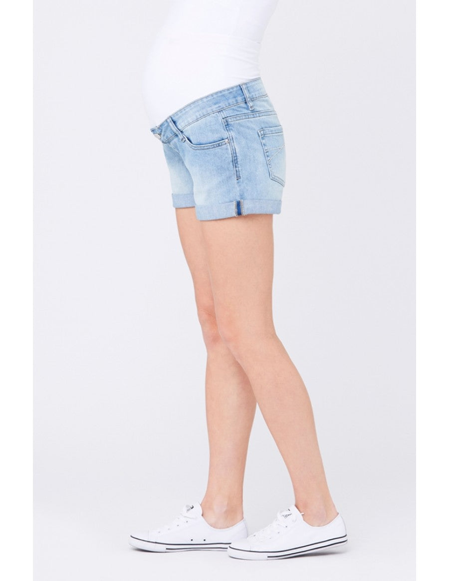 Denim Shorty Short - Nursing & Maternity Clothes
