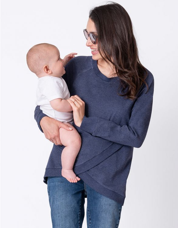 Crossover Maternity/Nursing Sweater - Yo Mama Maternity