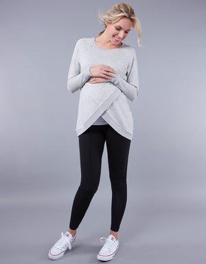 Crossover Maternity/Nursing Sweater - Nursing & Maternity Clothes