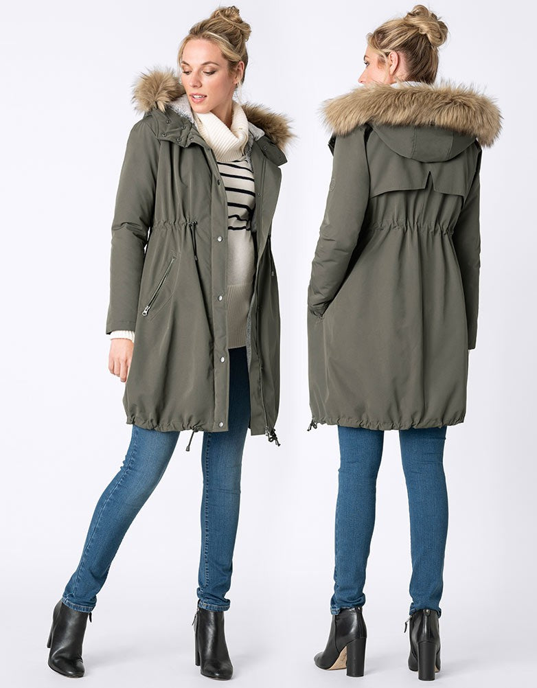 3-in-1 Mid Weight Parka - Nursing & Maternity Clothes
