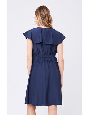 Frill Wrap Dress - Nursing & Maternity Clothes
