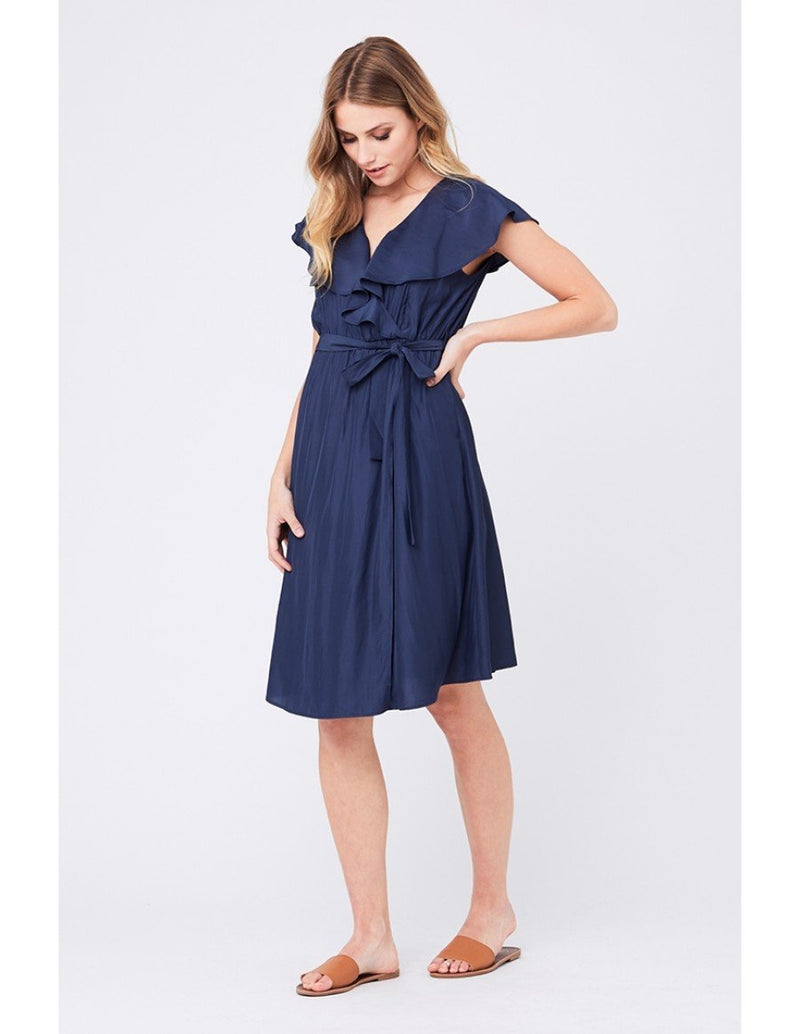 Frill Wrap Dress - Yo Mama Maternity