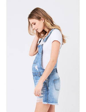 Denim Short Overalls - Nursing & Maternity Clothes
