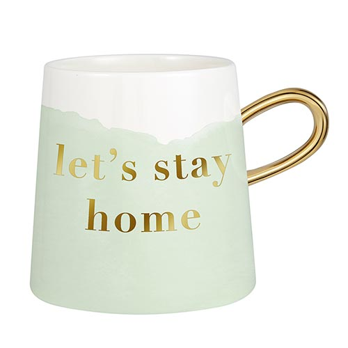Tapered Mug Collection-Mug-Slant-Let's Stay Home-Blessed Home & Body