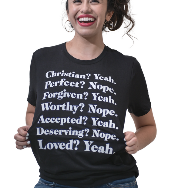 Christian? Yeah T-Shirt-T-Shirt-Beacon Threads-S UNISEX-BLACK-Blessed Home & Body