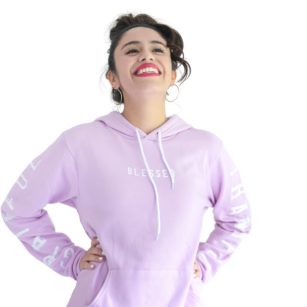 Grateful Thankful Blessed Pullover-Pullover Hoodie-Beacon Threads-XL-Lilac w/ White-Blessed Home & Body