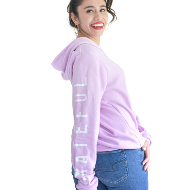 Grateful Thankful Blessed Pullover-Pullover Hoodie-Beacon Threads-S-Lilac w/White-Blessed Home & Body