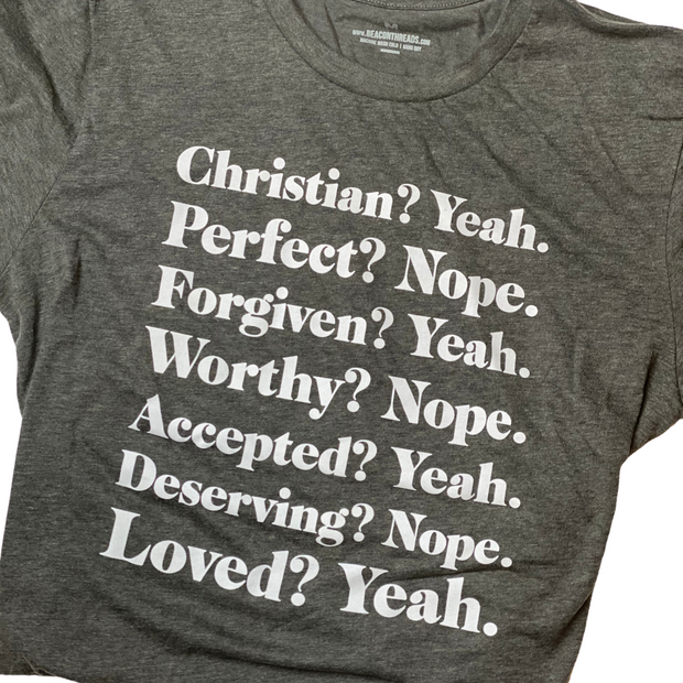 Christian? Yeah T-Shirt-T-Shirt-Beacon Threads-XS UNISEX-GREY-Blessed Home & Body
