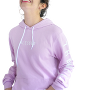 Grateful Thankful Blessed Pullover-Pullover Hoodie-Beacon Threads-L-Lilac w/White-Blessed Home & Body