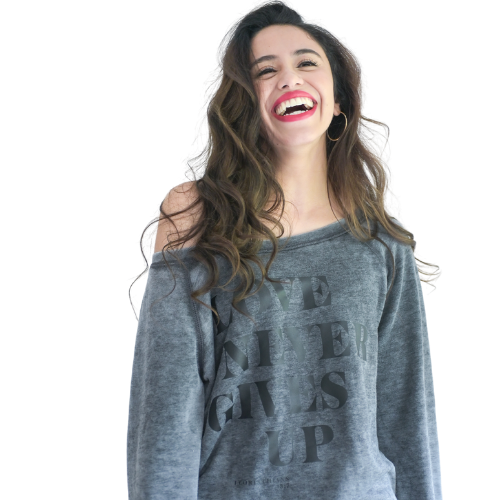 Love Never Gives Up Sweatshirt-Sweatshirt-Beacon Threads-XL-Grey-Blessed Home & Body