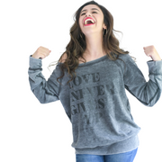 Love Never Gives Up Sweatshirt-Sweatshirt-Beacon Threads-L-Grey-Blessed Home & Body