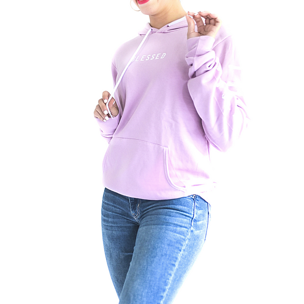 Grateful Thankful Blessed Pullover-Pullover Hoodie-Beacon Threads-XS-Lilac w/White-Blessed Home & Body