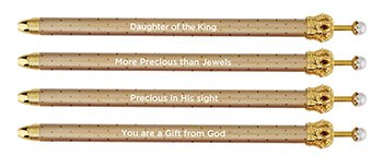 Crown Gold Pens-Crown Pen-Blessed Home & Body-Blessed Home & Body