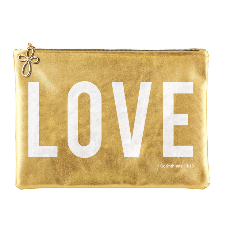 Metallic Pouch-Pouch-Blessed Home & Body-Love-Blessed Home & Body