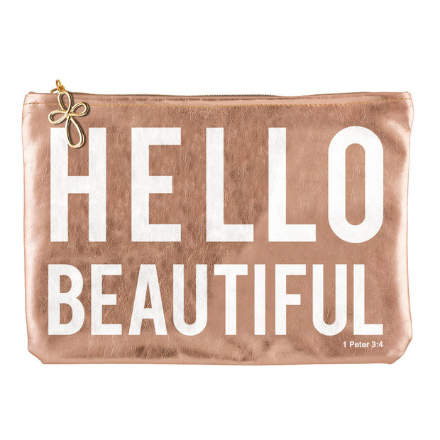 Metallic Pouch-Pouch-Blessed Home & Body-Hello Beautiful-Blessed Home & Body