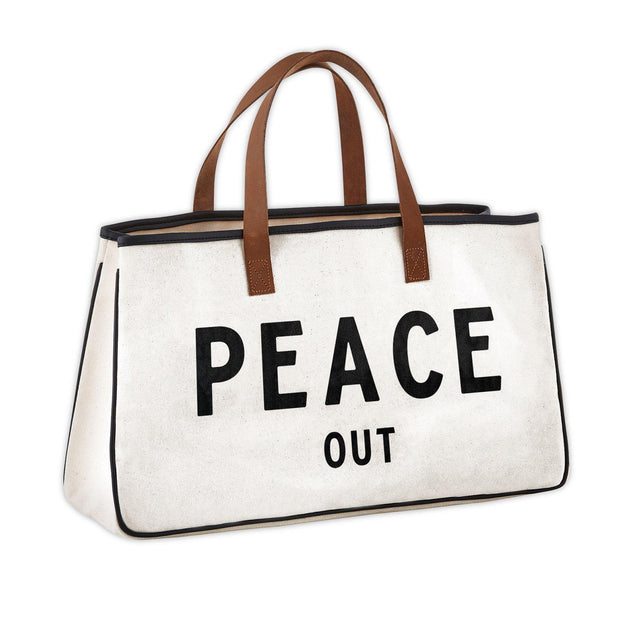 Perfect Weekend Getaway Bag-Tote Bag-Blessed Home & Body-Peace Out-Blessed Home & Body