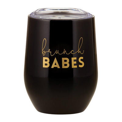 Stemless Wine Tumbler-Stemless Drink Tumbler-Blessed Home & Body-Brunch Babes-Blessed Home & Body