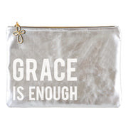 Metallic Pouch-Pouch-Blessed Home & Body-Grace Is Enough-Blessed Home & Body