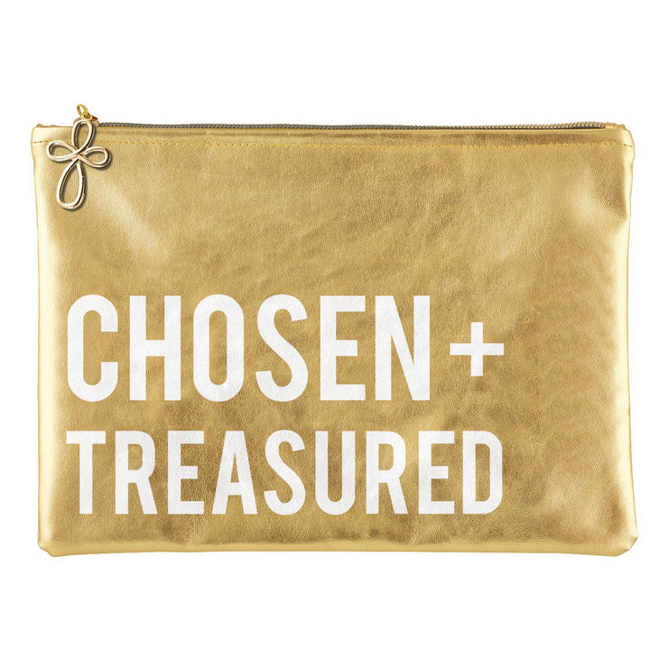 Metallic Pouch-Pouch-Blessed Home & Body-Chosen + Treasured-Blessed Home & Body