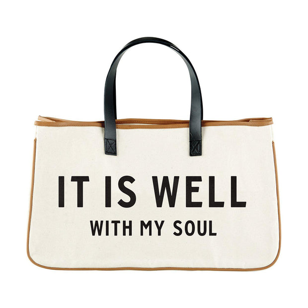 Express Your Faith Canvas Tote-Canvas Tote-Blessed Home & Body-It Is Well-Blessed Home & Body