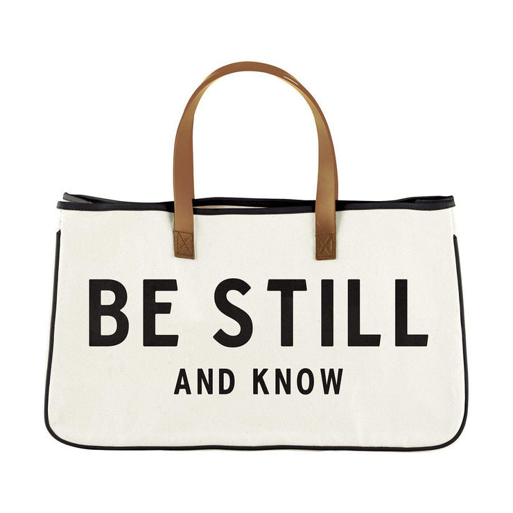 Express Your Faith Canvas Tote-Canvas Tote-Blessed Home & Body-Be Still and Know-Blessed Home & Body