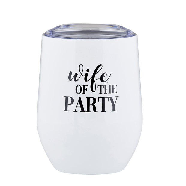 Stemless Wine Tumbler-Stemless Drink Tumbler-Blessed Home & Body-Wife of the Party-Blessed Home & Body