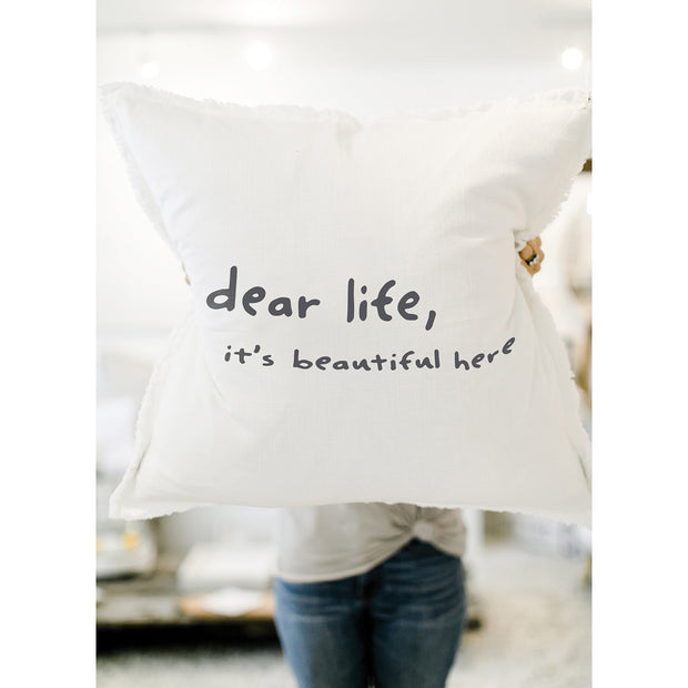 Big Comfy Sofa Pillows-Pillow-Blessed Home & Body-Dear Life It's Beautiful Here-Blessed Home & Body