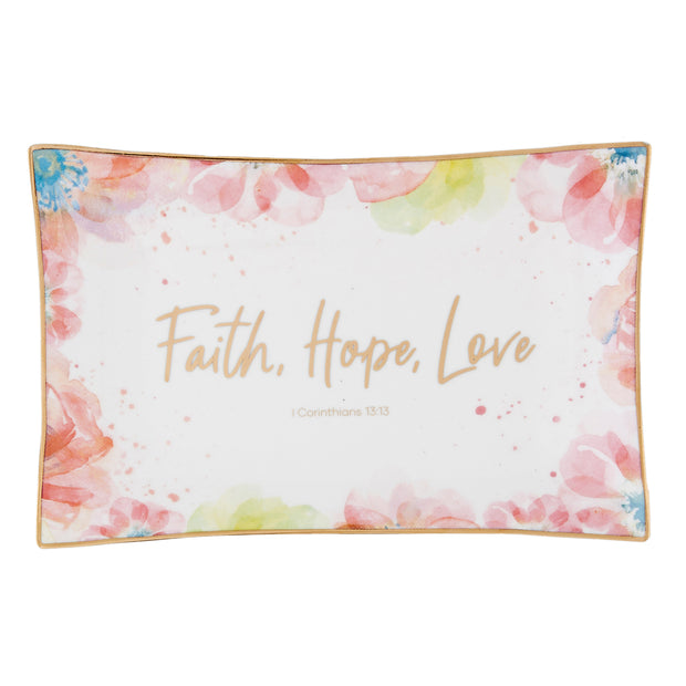 Summer Fields Trinket Tray-Trinket Tray-Blessed Home & Body-Faith Hope Love-Blessed Home & Body