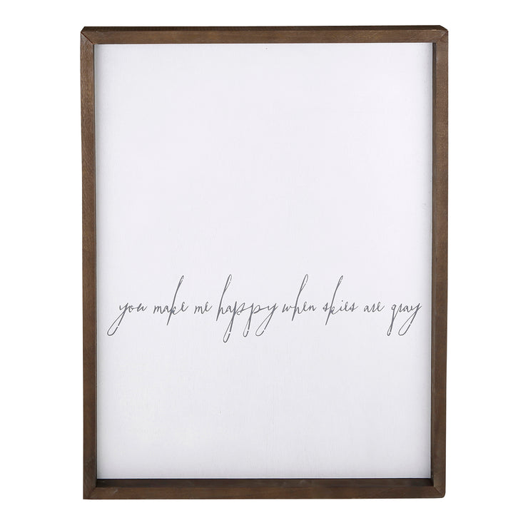 Speak Life! Inspirational Wall Art-Wall Art-Blessed Home & Body-You Make Me Happier-Blessed Home & Body