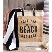 Love You to the Beach Jute Tote-Blessed Home & Body-Blessed Home & Body