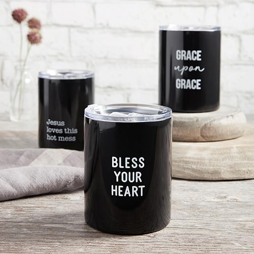 New! Stainless Steel Tumblers-Stainless Steel Tumbler-Blessed Home & Body-Why Y'all Tryin' To Test the Jesus in Me-Blessed Home & Body