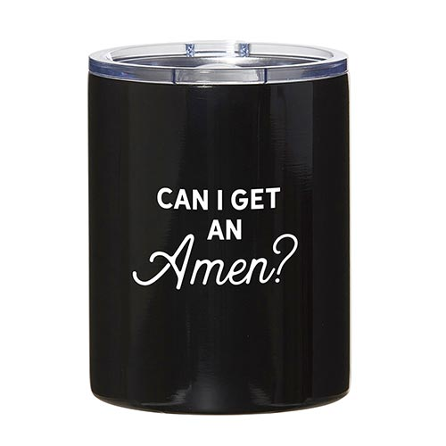 New! Stainless Steel Tumblers-Stainless Steel Tumbler-Blessed Home & Body-Can I Get An Amen?-Blessed Home & Body