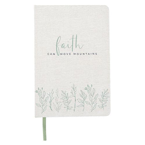 Linen Journals-Linen Journal-Blessed Home & Body-Faith Can Move Mountains-Blessed Home & Body