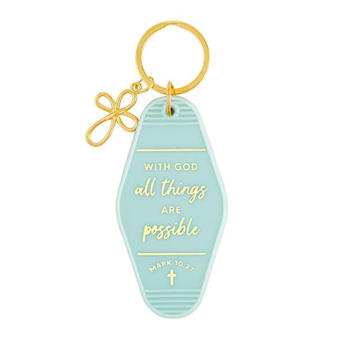 Scripture Keytags-Scripture Key Tags-Faithworks-All Things are Possible-Blessed Home & Body