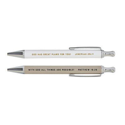 Scripture Pen Sets-Pen Set-Blessed Home & Body-God Has Plans-Blessed Home & Body