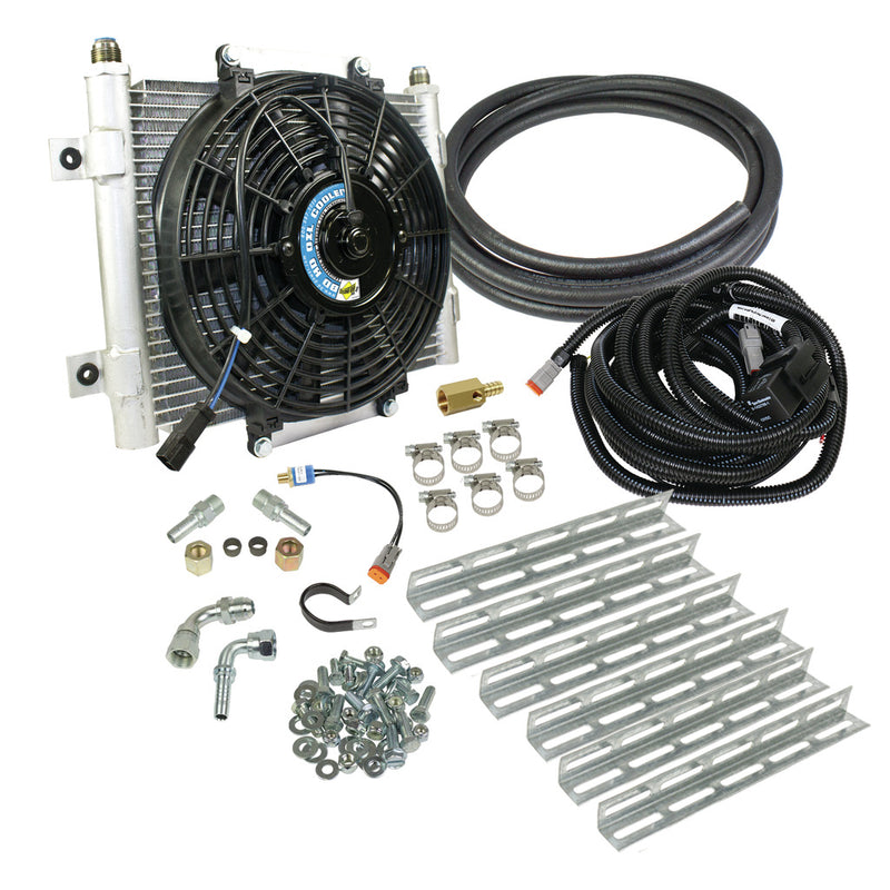 Xtrude Transmission Cooler with Fan - Complete Kit 5/16in Lines