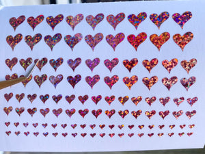 Candy Heart Vinyl Nail Stickers
